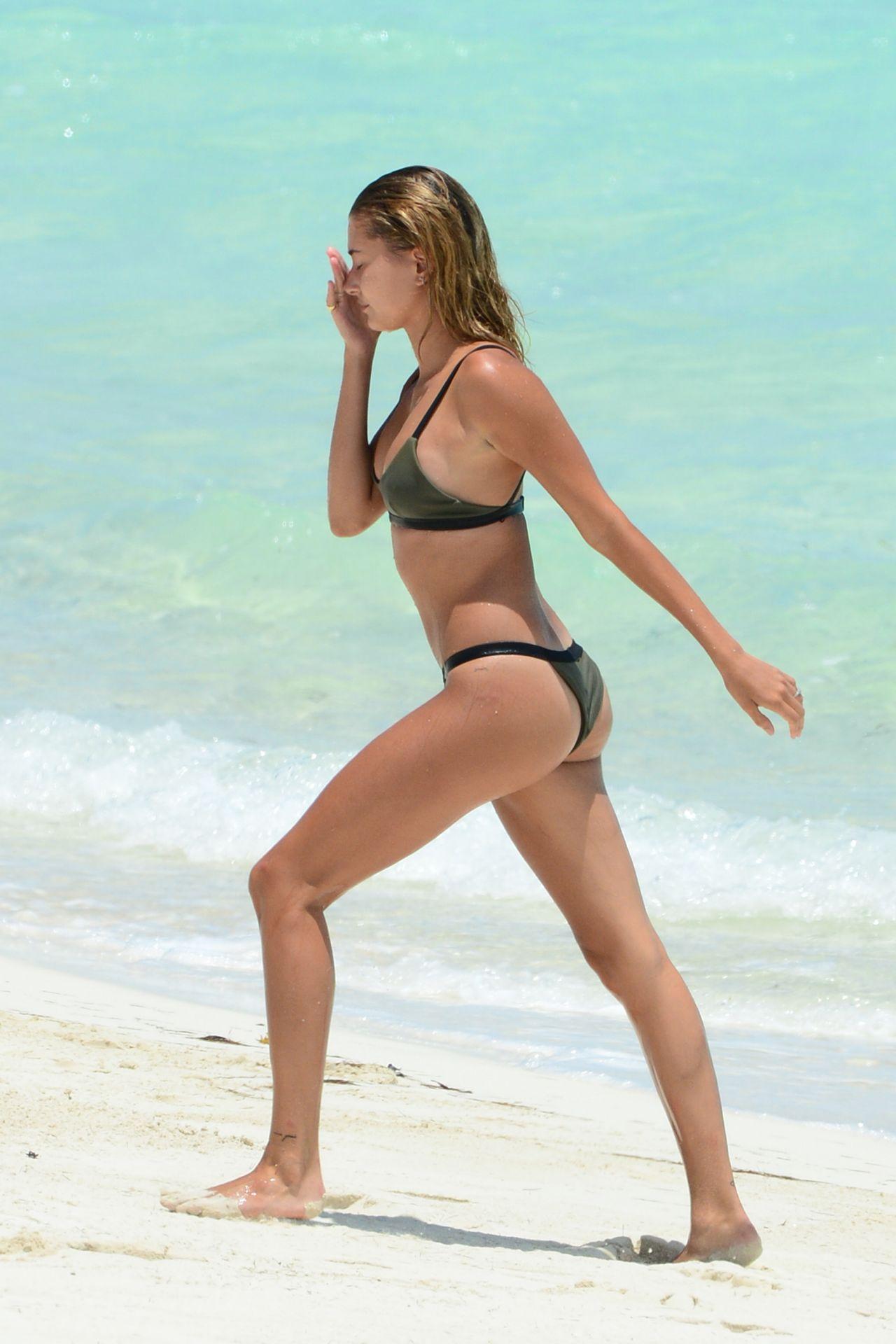 Hailey Baldwin Bikini Candids – Beach in Turks & Caicos 8/12/2016