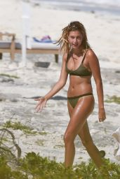 Hailey Baldwin Bikini Candids - Beach in Turks & Caicos 8/12/2016