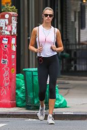 Hailey Clauson in Leggings - Out in NYC 8/20/2016