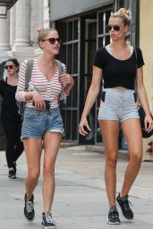 Hailey Clauson in Shorts - Out in NYC 8/5/2016