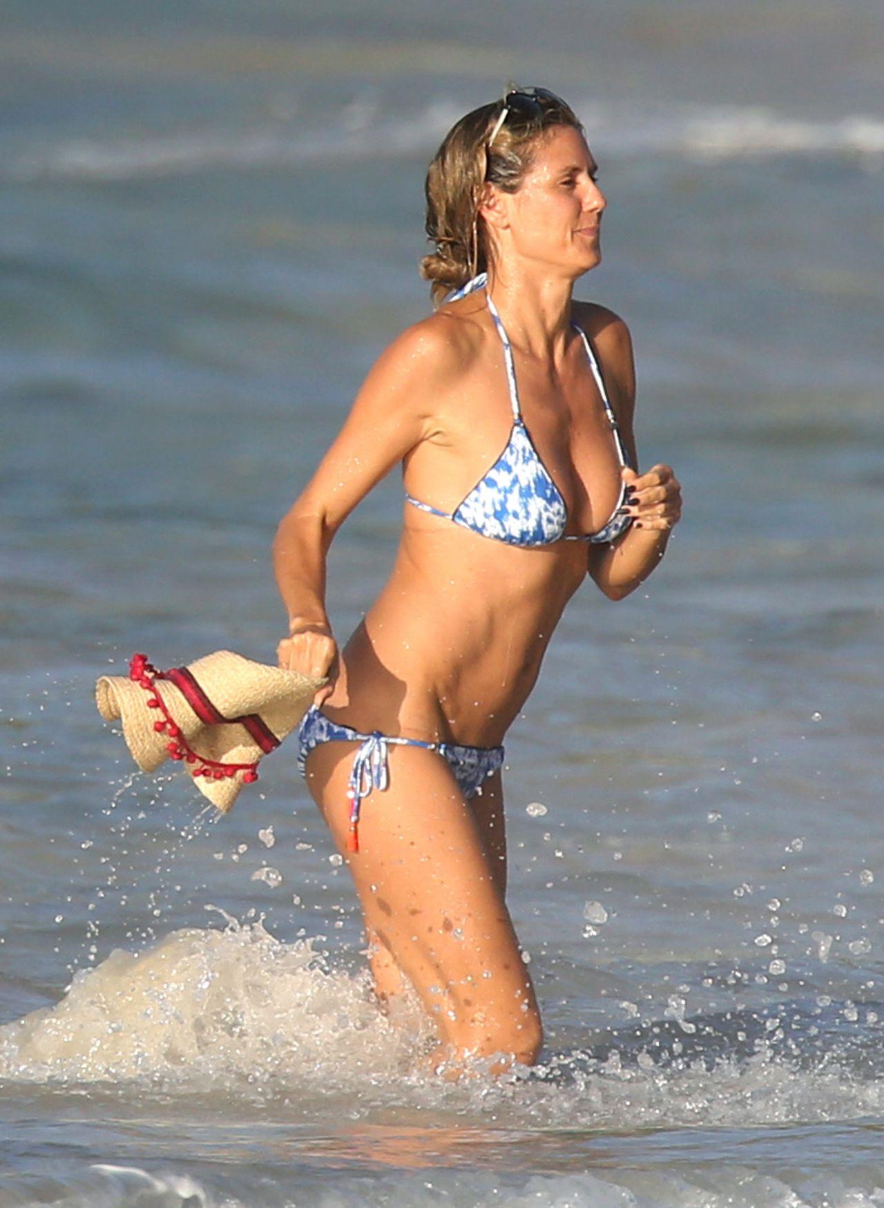 Heidi Klum In Bikini Beach In The Caribbean 8 7 2016