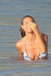 Heidi Klum in Bikini - Beach in the Caribbean 8/7/2016