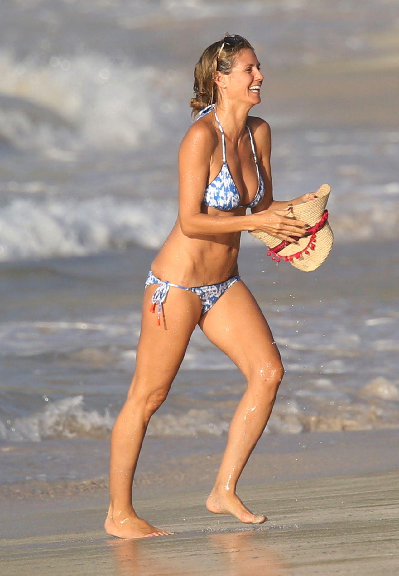 Heidi Klum In Bikini - Beach In The Caribbean 872016-2399