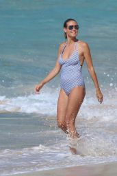 Heidi Klum in Swimsuit - Beach in the Caribbean 8/9/2016