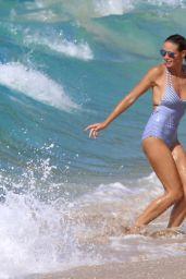 Heidi Klum in Swimsuit - Beach in the Caribbean 8/9/2016