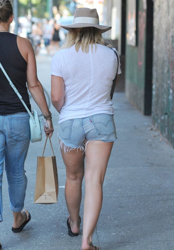 Hilary Duff Booty in Jeans Shorts - NYC 8/28/2016