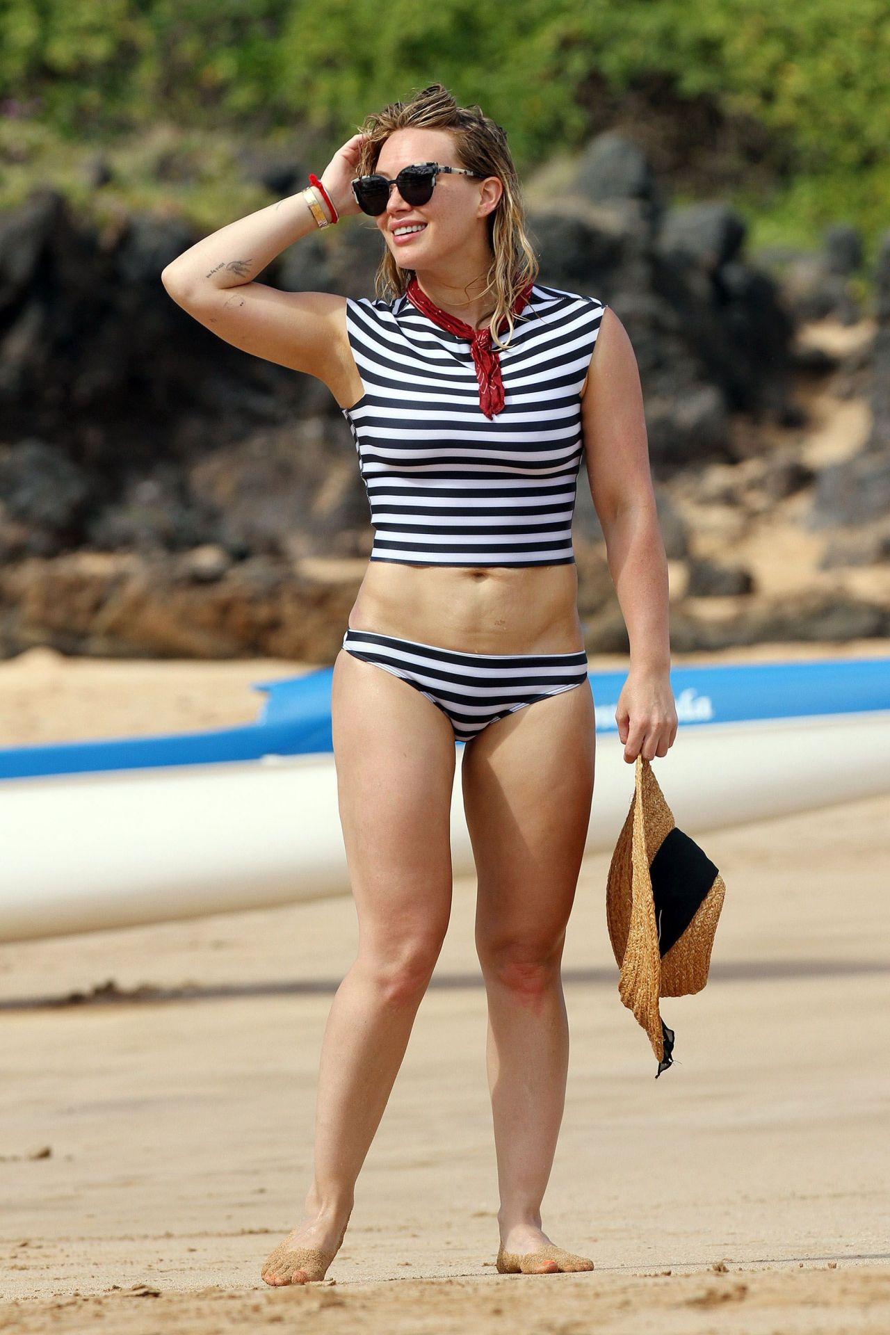 Hilary Duff In Bikini At A Beach In Malibu 8 4 2016