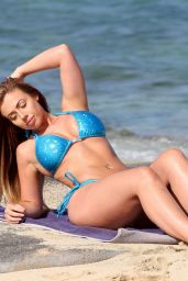 Holly Hagan Hot in Bikini - Beach in Ibizza,Spain 8/5/2016