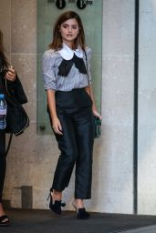 Jenna Coleman at BBC Broadcasting House in London 8/31/2016