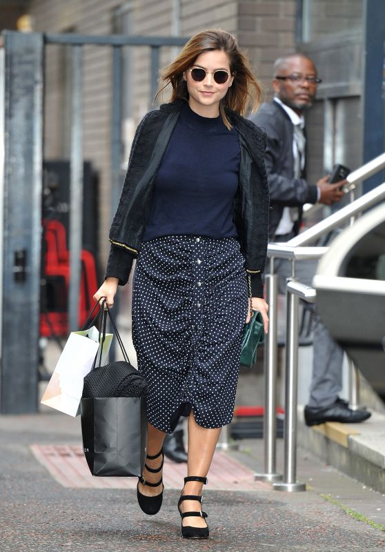 Jenna-Louise Coleman -Leaving the ITV Studios in London 8/22/2016