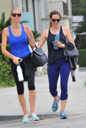 Jennifer Garner in Spandex - Leaving the Gym in LA 8/9/2016