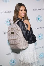 Jessica Alba - The Honest Company Brand Backpack at Nordstrom Downtown Seattle 8/4/2016
