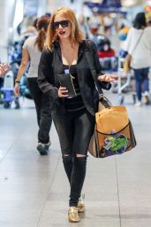 Jessica Chastain at Pierre Elliott Trudeau International Airport in Montreal 8/3/2016