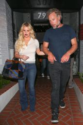Jessica Simpson - Leaving a Mexican Restaurant in West Hollywood 8/16/2016