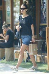 Jordana Brewster - Leaving Kreation in Brentwood, August 2016