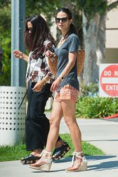Jordana Brewster Leggy in Shorts - LA 8/2/2016
