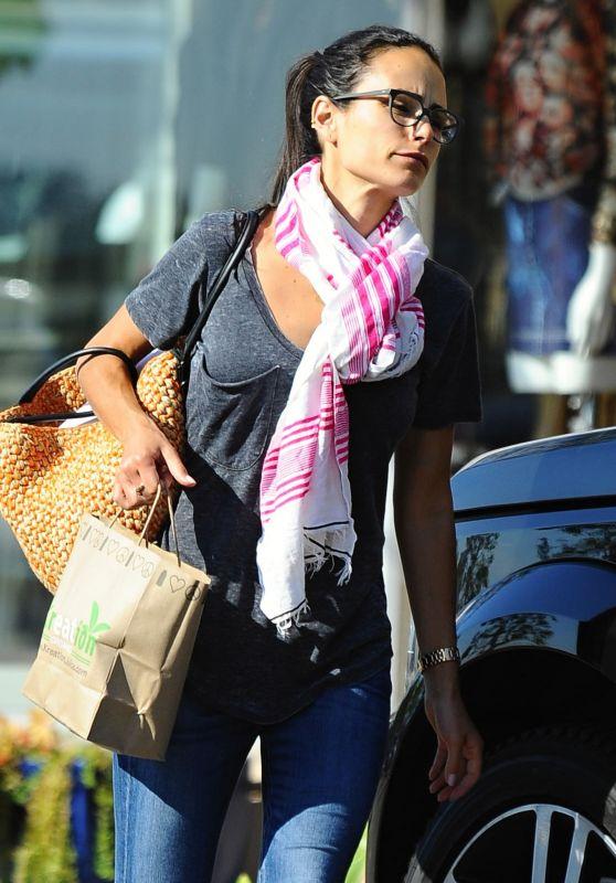 Jordana Brewster Street Style - Santa Monica 7/31/2016