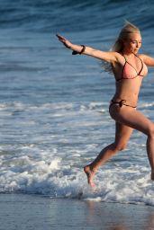 Jorgie Porter Bikini Pics - Beach in Malibu California 8/28/2016
