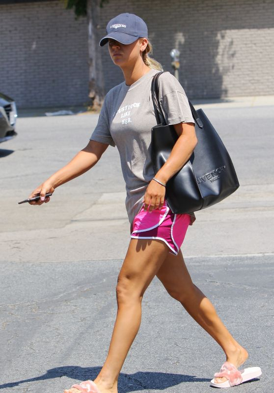 Kaley Cuoco in Shorts - Studio City 8/28/2016