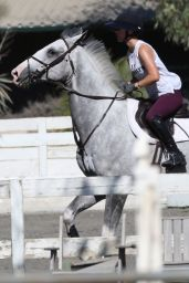 Kaley Cuoco - Riding Her Horse in Burbank 8/12/2016