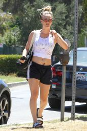 Kaley Cuoco Showing Her Midriff - Leaving Yoga Class in Sherman Oaks 8/15/2016