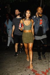Karrueche Tran Night Out Style - Leaving