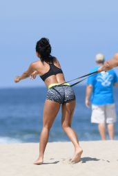 Karrueche Tran Working Out - Beach in Venice 8/2/2016
