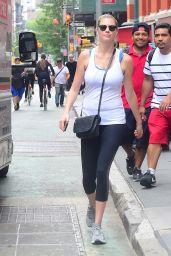Kate Upton in Leggings - NYC 8/1/2016