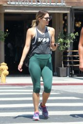 Katharine McPhee in Leggings - Out in LA 8/20/2016