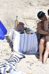 Katy Perry in a Swimsuit - With Orlando Bloom at a Beach in Italy 8/4/2016