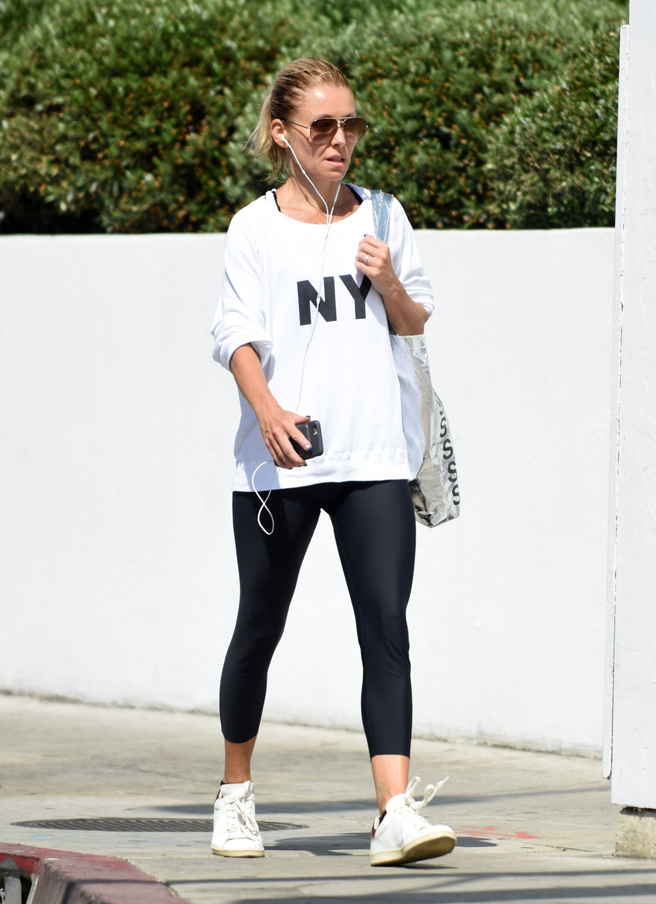 Kelly Ripa In Tights Out In West Hollywood 8 11 2016