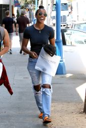 Kelly Rowland in Ripped Jeans - West Hollywood 8/20/2016