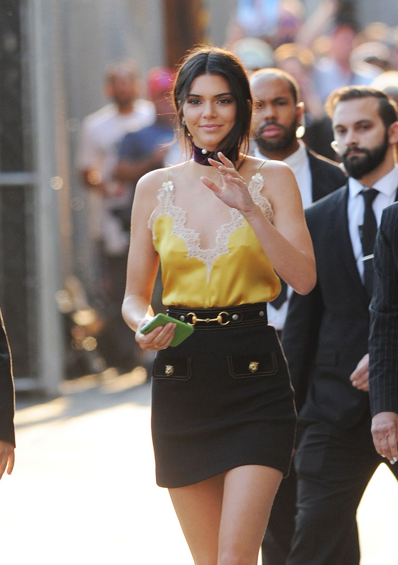 Kendall Jenner Leaving Jimmy Kimmel Live In Los Angeles