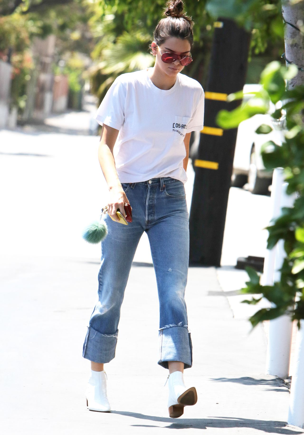 kendall jenner street style  at fred segal in west