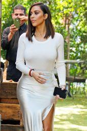 Kim Kardashian Classy Fashion - at The Villa Restaurant in Woodland Hills, August 2016