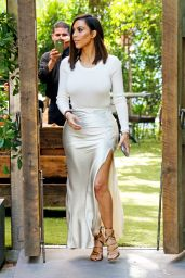 Kim Kardashian Classy Fashion - at The Villa Restaurant in Woodland Hills, August 2016