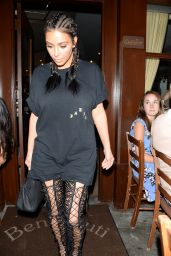 Kim Kardashian - Leaving Dinner at Il Pastaio in Beverly Hills 8/4/2016