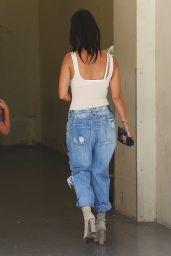 Kourtney Kardashian in Ripped Jeans - Woodland Hills CA 8/9/2016