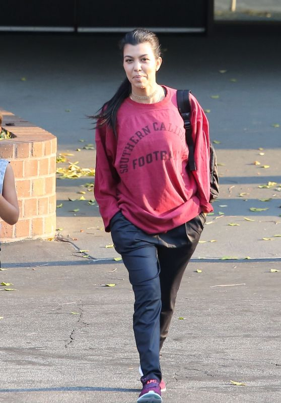 Kourtney Kardashian -Leaving a Gym in Calabasas 8/23/2016