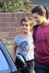 Kourtney Kardashian -Leaving a Gym in Calabasas 8/23/2016