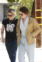 Kristen Stewart - Outside Gracias Madre Restaurant in West Hollywood 8/22/2016