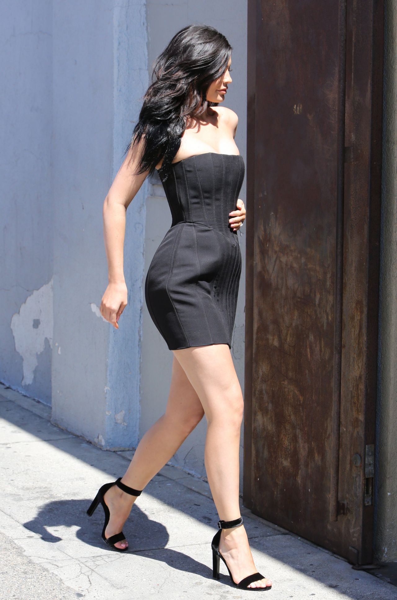 kylie jenner hot in mini dress at maxfields in west