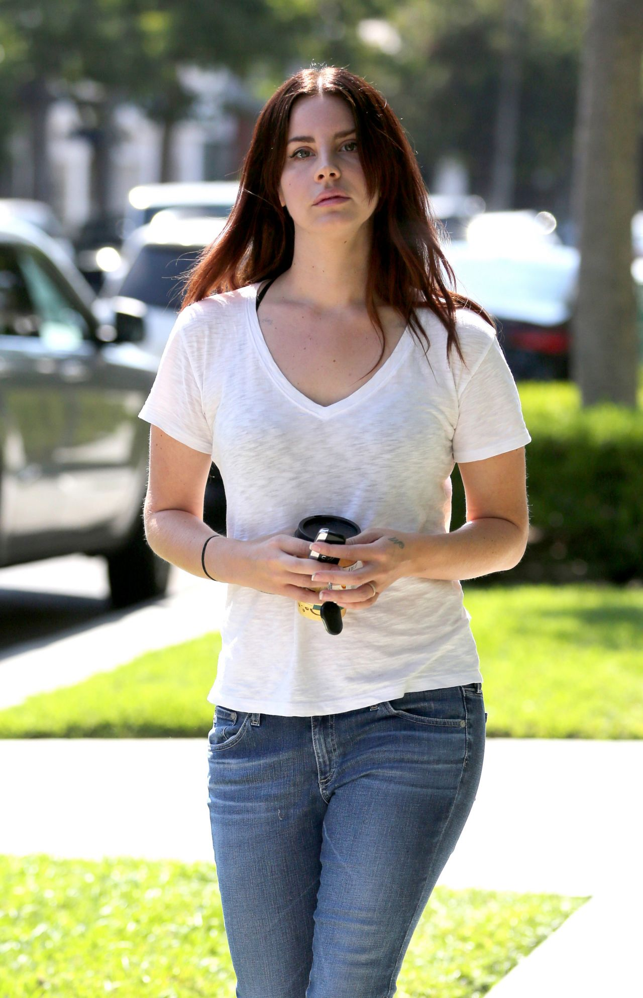 Lana Del Rey Casual Style Out At Melrose Place In West