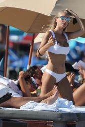 Laura Cremaschi in White Bikini on Miami Beach 8/20/2016