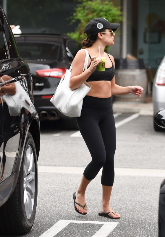 Lea Michele - Leaving a Gym in Los Angeles 8/7/2016