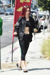 Lily Collins - Going to a Gym in West Hollywood 8/9/2016