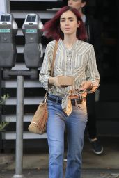 Lily Collins - Out for Lunch in Los Angeles 8/9/2016