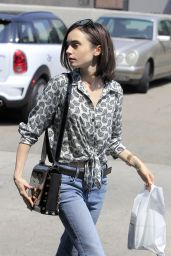 Lily Collins - Out in Beverly Hills 8/25/2016