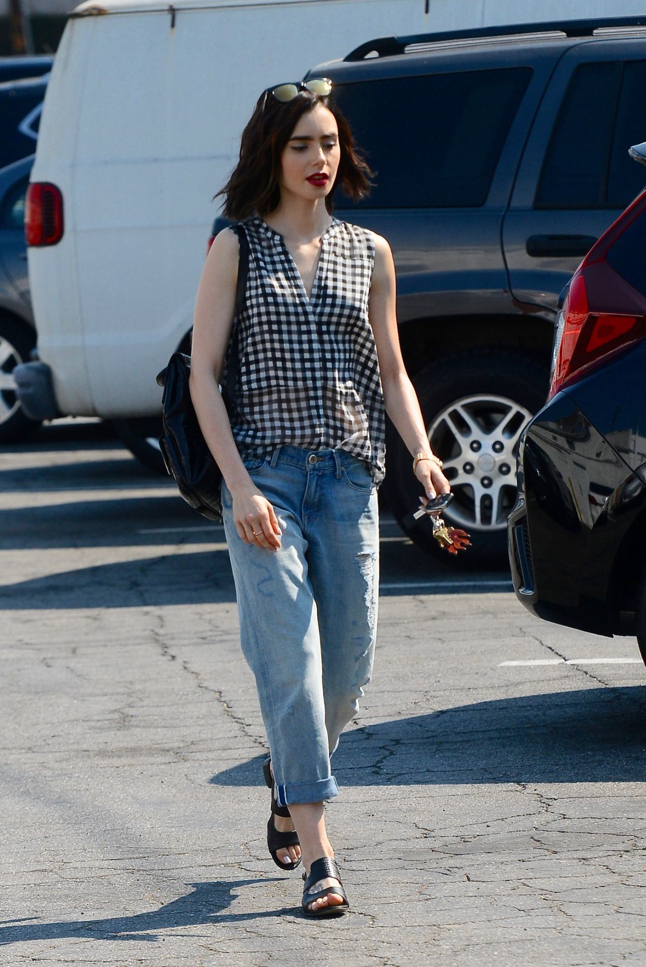 Lily Collins Street Style West Hollywood 8 24 2016