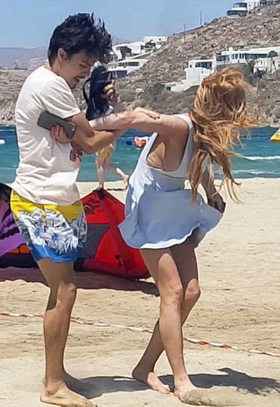 Accidental beach nudity